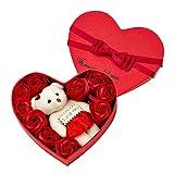 Xiaowang künstliche Rosen, Geschenkbox, Seifenblume in Herzform, Geschenkbox, Dekoration für...
