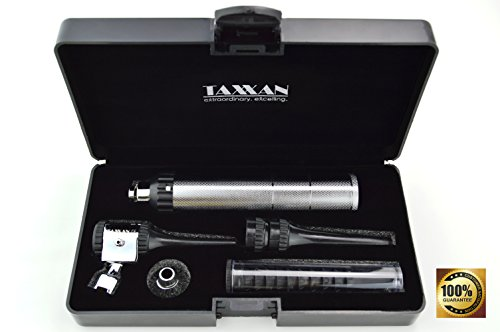 TAXXAN Veterinary Otoscope ENT Diagnostic Set with Metal Adapter to USE Standard Disposable Speculum