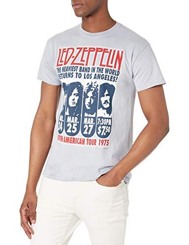 Liquid Blue Men's Led Zeppelin Hermit Short Sleeve T-Shirt, Tie Dye, Small