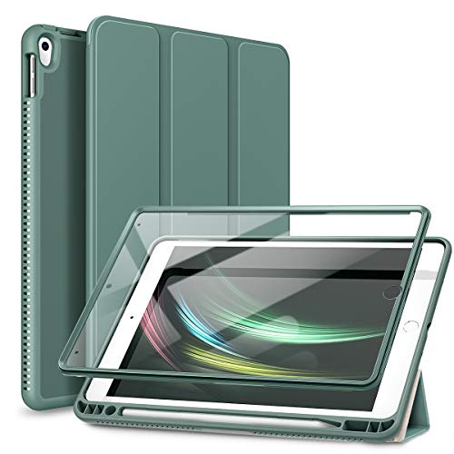 SURITCH Case for iPad Air 3 2019/iPad Pro 2017, [Built in Screen Protector] [Auto Sleep/Wake] [Pencil Holder] Lightweight Leather Case Flip Cover with Stand for iPad Air 3/iPad Pro 10.5' (Green)