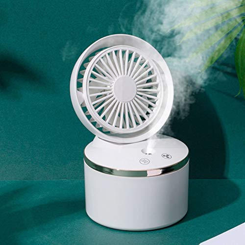 Corlidea USB fan can be made of humidifier, with light, fan small 3 speeds, low noise, fan easy to carry, for office, home and outdoor use