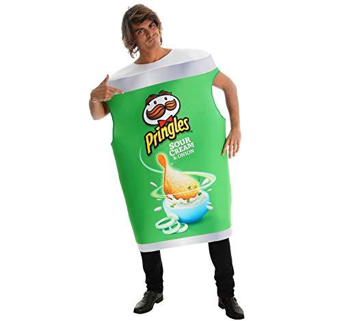 Unisex Original Pringles Kostüm Chipsdose Spaßkostüm OneSize rot, grün, orange (grün)
