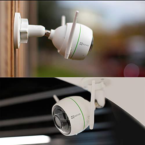 EZVIZ C3WN Überwachungskamera Outdoor 1080P WLAN IP Kamera mit 30m Nachtsicht, Bewegungserkennung, IP66 Wasserdicht, Unterstützt bis zu 256G SD-Karte, Kompatibel mit Alexa, Google Home, IFTTT