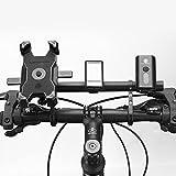 GYAM 30 cm bicicleta manillar extensor fibra carbono aleación aluminio manillar extendido soporte para bicicleta luz faro titular