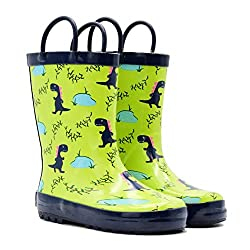 6. Mucky Wear Children's Rubber Dinosaur Rain Boots