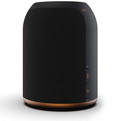JAYS Multiroom Bluetooth Lautsprecher System – s-Living One Schwarz WLAN Speaker für Musik, TV und Stream
