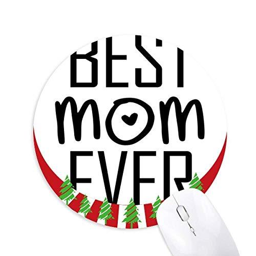 Beste Mutter je Zitat Muttertag Rund um Gummi Maus Pad Weihnachtsdekoration