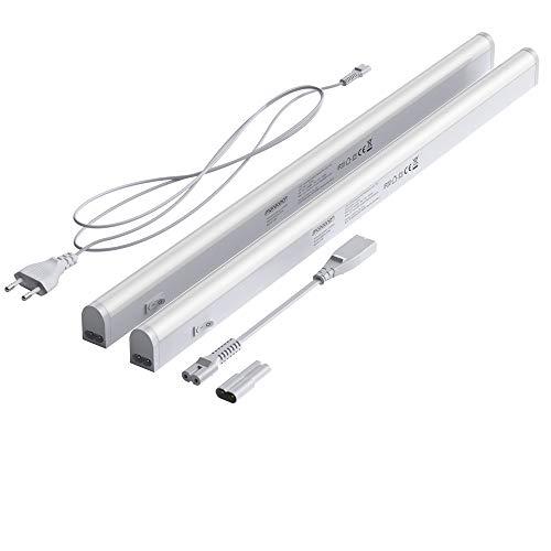 Monzana 2er Set LED Unterbauleuchte 54cm Weiß 9 Watt Lichtleiste 750lm Unterbauleiste 4000K Küchenleuchte Leuchten Lampe