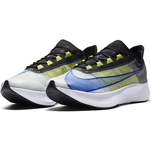 Nike Zoom Fly 3, Zapatillas para Correr Hombre, White Racer Blue Cyber Black, 43 EU