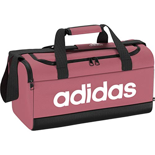 Adidas GN2036 LINEAR DUFFEL S Sports bag Unisex - Adult hazy rose/black/white NS
