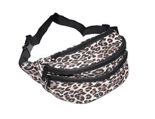 Riñonera de tela con estampado de leopardo