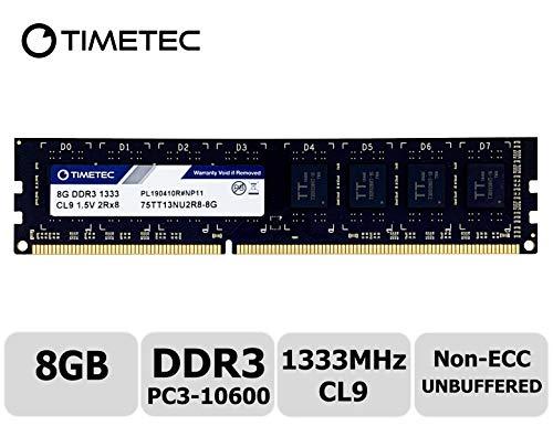 Timetec Hynix IC 8 GB デスクトップPC用メモリ DDR3 1333 MHz PC3 10600 240 Pin UDIMM (8 GB)