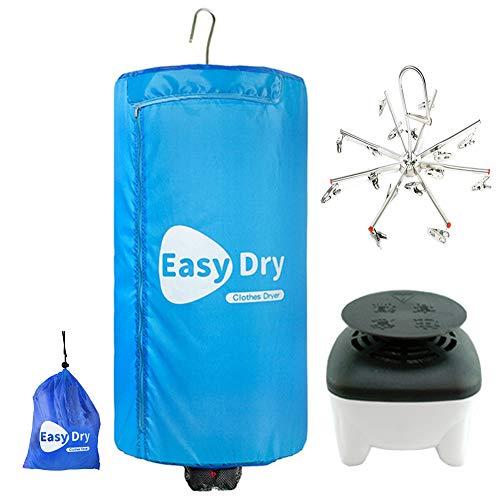 Dryer-EJOYDUTY 500W Tragbarer Elektrischer Trockner, Faltbare Indoor Kleidung Heater, Schnell Trocknend, für Zuhause und Reisen,Blau
