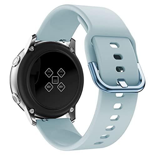 LXFFCOK BEHUA - Pulsera para reloj inteligente Huami Amazfit Bip juventud/BIP lite/GTS 20 mm de repuesto de silicona (color de la correa: azul claro, ancho de la correa: Galaxy Watch activo)
