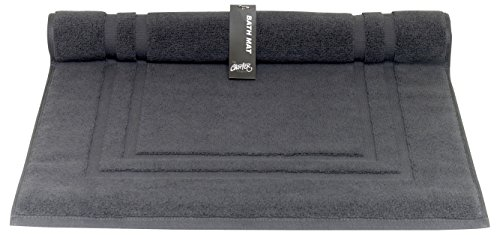 Chortex Luxury 850gsm 100% Turkish Cotton Bath Mat, Pack of 1, Charcoal