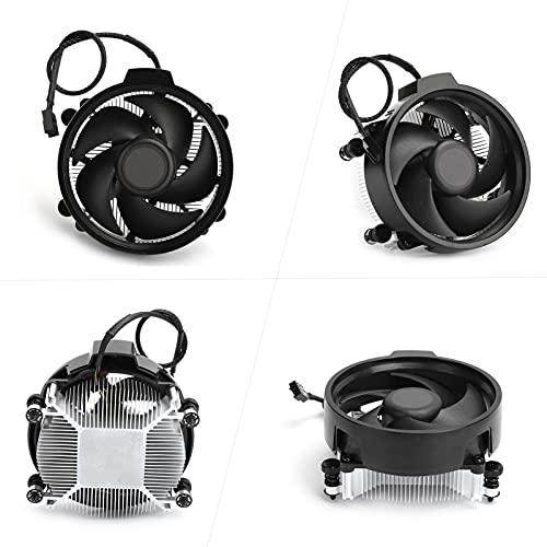 SHYEKYO Ventilador más frío, radiador de refrigeración Ajustable de aleación de Aluminio para Interfaz AMD AM4 para la Gama Completa de procesadores Ryzen