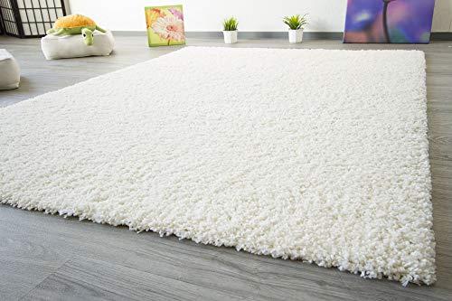 Shaggy Hochflor Teppich Funny Soft Touch Langflor in der Farbe creme GUT Siegel, Größe: 140x200 cm
