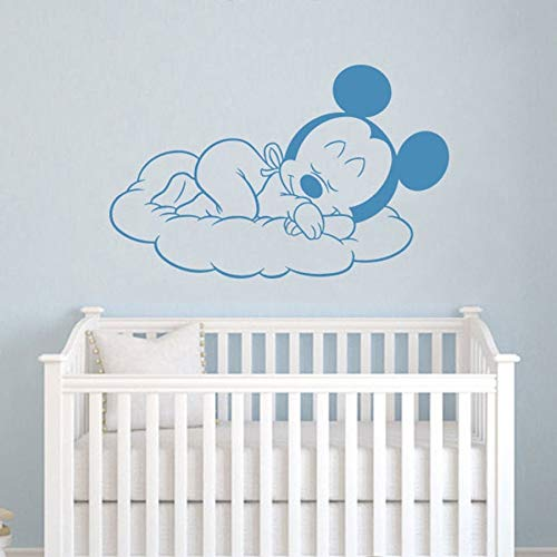 Dibujos animados animal ratón tatuajes de pared habitación de los niños dormir vinilo adhesivo calcomanías niños jardín de infantes dormitorio decoración del hogar dibujos animados nube mural