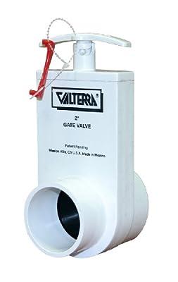 "Valterra 2202X PVC Unibody Gate Valve, White, 2"" Slip x Spigot w/Gate Keeper from Valterra Products"