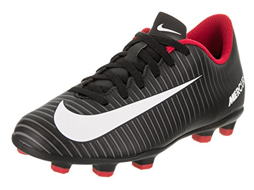 NIKE JR Mercurial Vortex III FG - Zapatillas de fútbol, Unisex Infantil, Negro - (Black/White-Dark Grey)