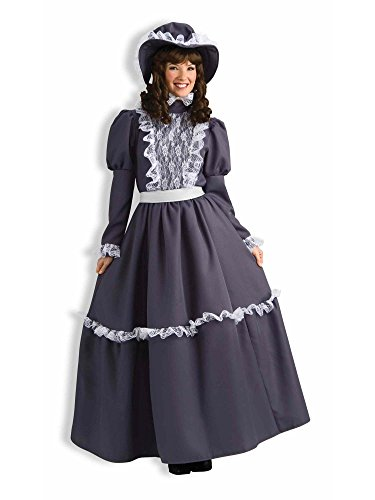 Forum Novelties Women's Prairie Lady Costume, Gray, Standard 14/16