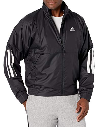 adidas Outdoor mens Back to School Light Jacket Black/White Large
