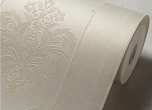Papel pintado tejido no tejido Jardín de estilo europeo flor grande bronceado Decoración de Pared decorativos Murales moderna de Diseno Fotográfico,embellece muebles sin brillo 0.53m*9.5m=5.0㎡