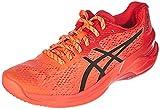 ASICS 1052A047-701_38, Zapatillas de Voleibol Mujer, Sunrise Red Eclipse Black, EU