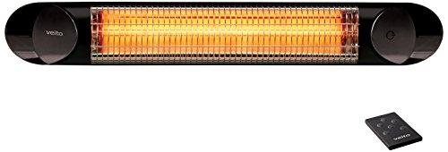 Veito Infrarot Heizstrahler Blade 2000 Watt - Terassenheizstrahler Terassenstrahler mit Fernbedienung und 4 Heizstufen