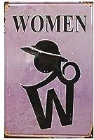 アメリカ雑貨 ブリキ看板 屋内用 ヴィンテージ風 レトロ風 雑貨 ポスター ガレージ 女性トイレサイン 壁飾り おしゃれ