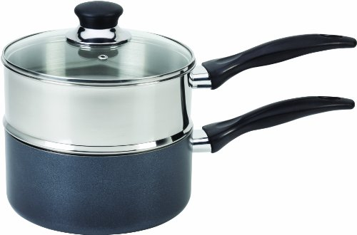 T-fal B1399663 Specialty Stainless Steel Double Boiler with...