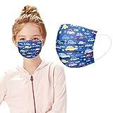 ODJOY-FAN 50 Stück Mundschutz, Staubschutz - aus Vlies, Kinder Drucken Bandana Face Cover Mund-Nasen-Schutz(#8,50 Stück)