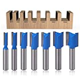 CLJ-LJ 8 mm Vástago de la madera ranurada recta de doble filo cuchillo recto cuchillo cortador que ranura la fresa de ranurar exportación exportaciones rusas de madera de afeitar Herramientas