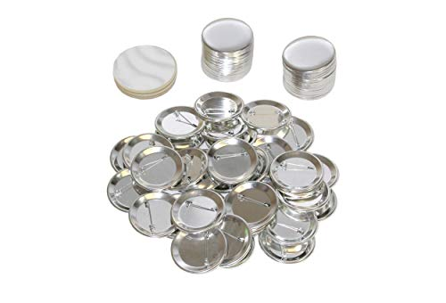 1.5 Inch Round Buttons (Pack of 100) Badge Metal Pin Parts