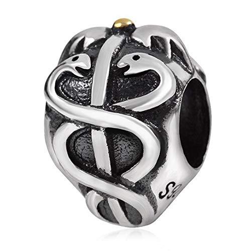 925 Sterling zilveren dubbele slangbedeltje bedeltje bedeltje voor Pandora bedelarmband