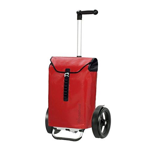 Andersen Shopper Tura mit kugelgelagertem Rad 29 cm und Tasche Ortlieb 49 Liter rot