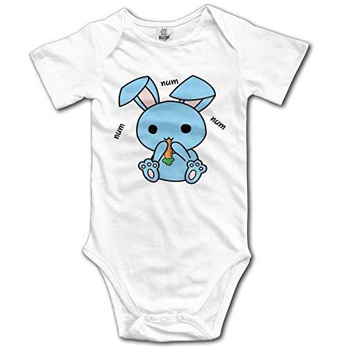 SDGSS Combinaison Bébé Cartoon Kawaii Bunny Eat Carrot Cute Unisex Short Sleeve Baby