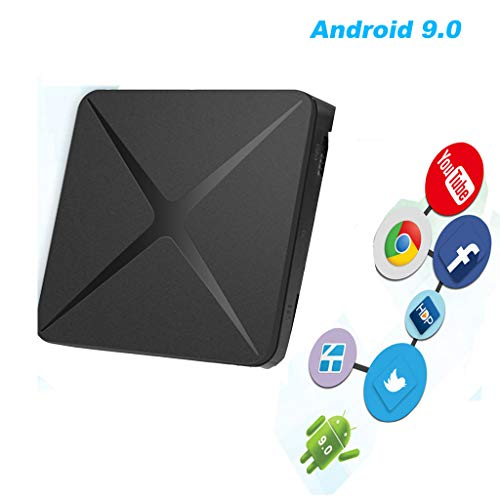 LTLZCY Android TV Box, TV Box 1GB RAM/8GB ROM Android 9.0 Amlogic Quad-Core 64-bits Arm Cortex-A53 Soporte 2.4G/5Ghz WiFi H.265 4K HDMI DLNA Reproductor Multimedia,1g+8g,USPlug