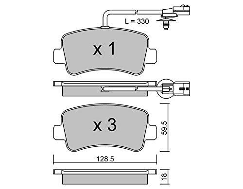 metelligroup 22-0899-0 Bremsbeläge, Made in Italy, Ersatzteile für Autos, ECE R90-zertifiziert, Kupferfrei