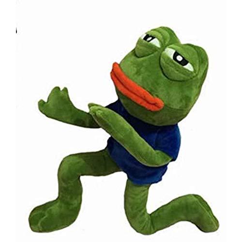 ZHYGDQ Peluche 42 cm Expresión Mágica Pepe The Frog Colección Rana Triste Peluche Regalo de cumpleaños de Navidad