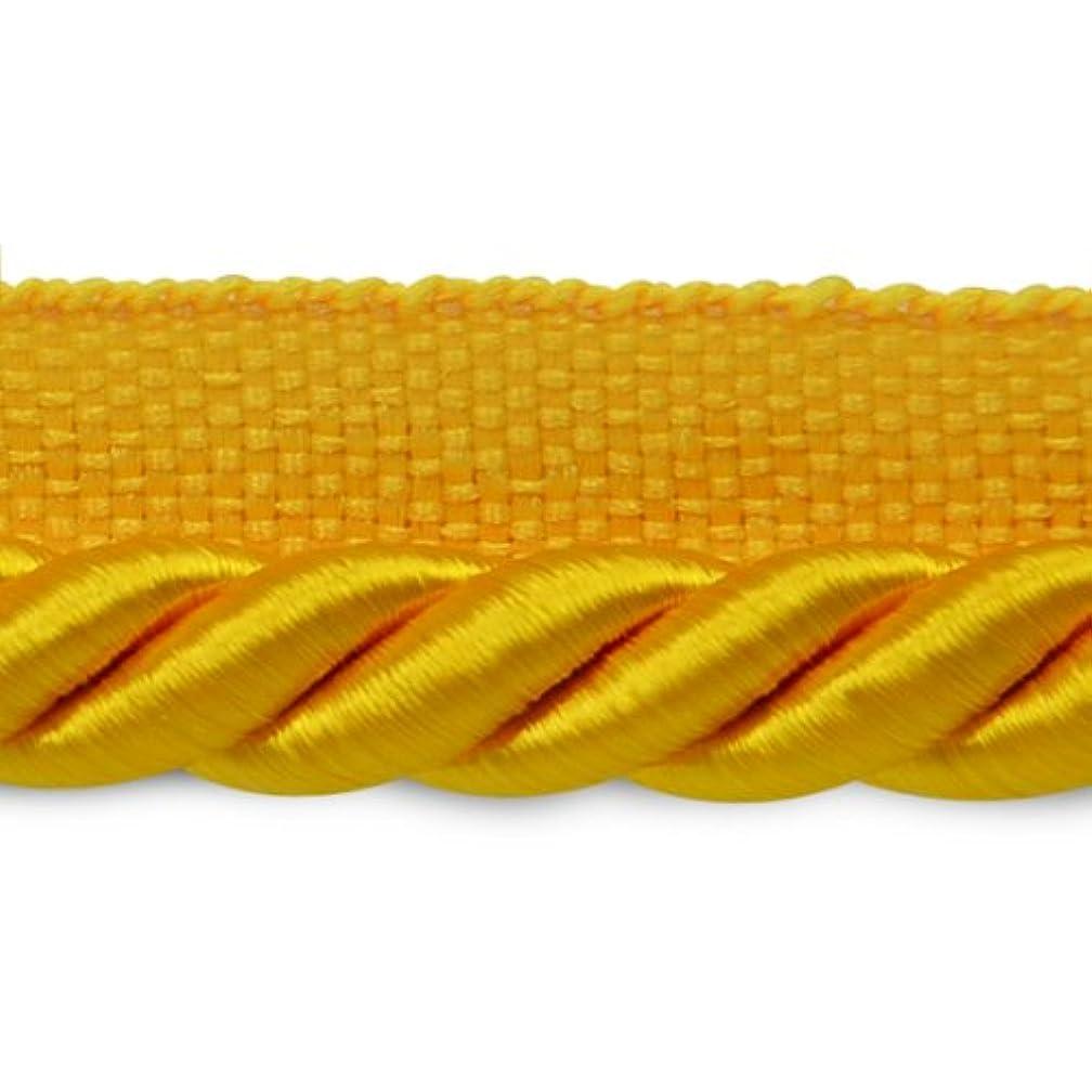 Expo International 20-Yard Hilda Twisted Lip Cord Trim Embellishment, 3/8-Inch, Yellow Gold