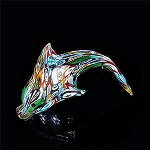 Arte de Murano Delfín de cristal de Murano, glass, Multicolor, pequeña