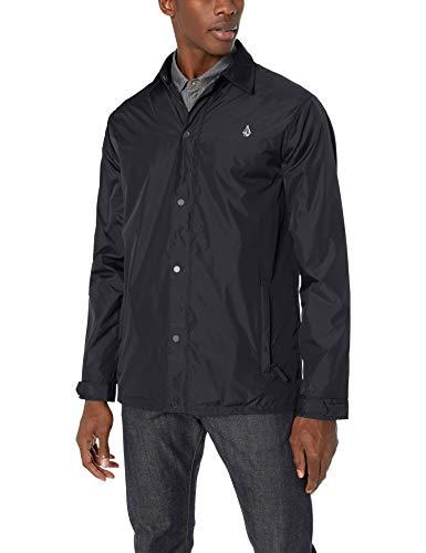 Volcom Men's Skindawg Nylon Snow Jacket, Black, Extra Large