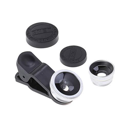 ULTECHNOVO Objetivo Macro Universal ojo ojo ojo de pez objetivo macro gran angular de cámara de teléfono 3 en 1