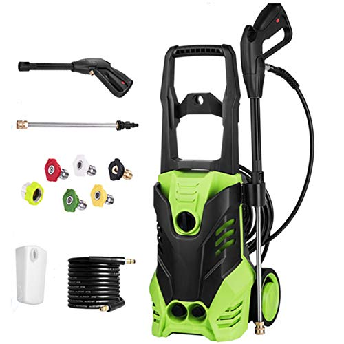 Homdox Electric Pressure Washer, 2880PSI Max, 1.7GPM Pressure Washer with 1800W Motor, 5 Interchangeable Nozzles for Homes, Cars, Boats, RVs, Driveways, Decks and More(Green)