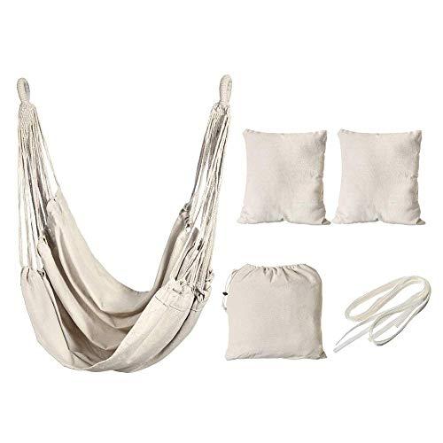 Gifftiy achtertuin hangmat met standaard hangmat voor standaard Scandinavische stijl hangmat buiten binnen tuin slaapzaal slaapkamer hangstoel voor kind volwassen Swinging enkele veiligheid stoel Type B