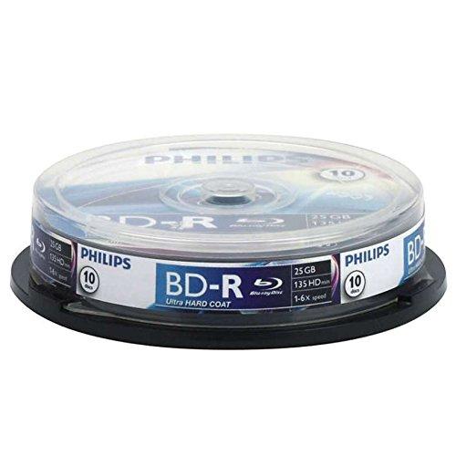 Philips Bluray BD-RE Rohlinge, 2x, 25GB, 10er Spindel, rewritable