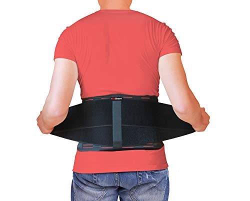 AidBrace Back Brace for Lower Back Pain Relief for Men & Women - Comfortable Belt Support for Herniated Disc, Sciatica, and Scoliosis with Removable Lumbar Pad Extra Large Size (2XL / 3XL)
