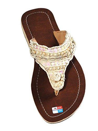 Damen Flip Sandale Shell Zehentrenner Zehenpantolette