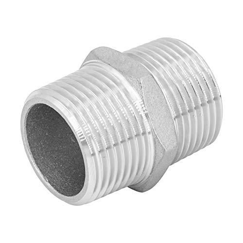 3/4' Racor doble de acero inoxidable V2A, 2x rosca macho, pieza de conexión